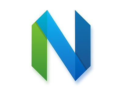 Neovim logo proposal blue green logo transparency