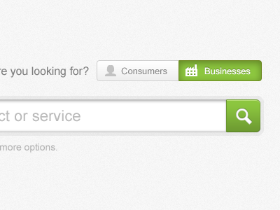 Toggle and Search ui green search buttons