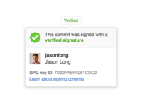 Popover for signed Git commits