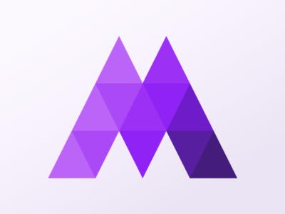 Matched Pattern Logo triangles purple geometric logo