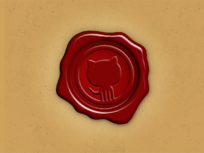 Octocat Wax Seal octocat logo github