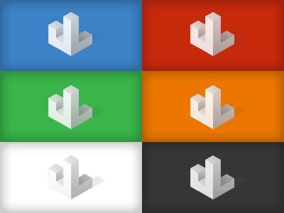 Personal Logomark Explorations isometric logo