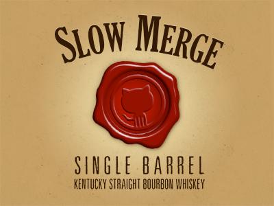 GitHub Bourbon - Slow Merge logo whiskey label github
