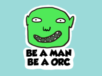 Orc Sticker