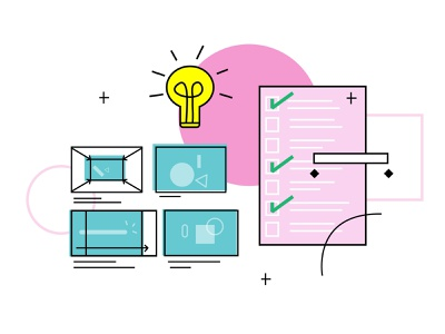 Illustration for an Aftereffects classes for designers line vector after affects after effect love aftereffects keyframes ideation storyboarding story timeline