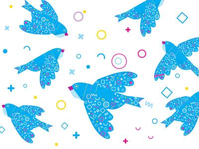 birds swallows swallow pattern freedom free birds bird illustraion branding illustration animation vector