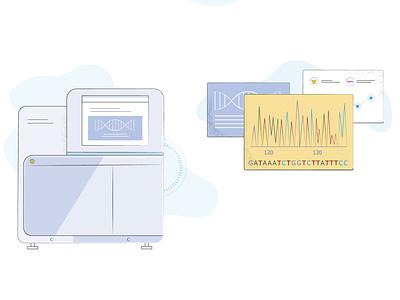 Scientific illustration for a third article dna scientific illustration science vector illustration design
