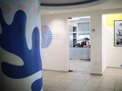 Office stickers design branding illustraion design vector