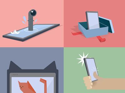 Illustrations for post onboarding app ideas illustraion design illustration vector