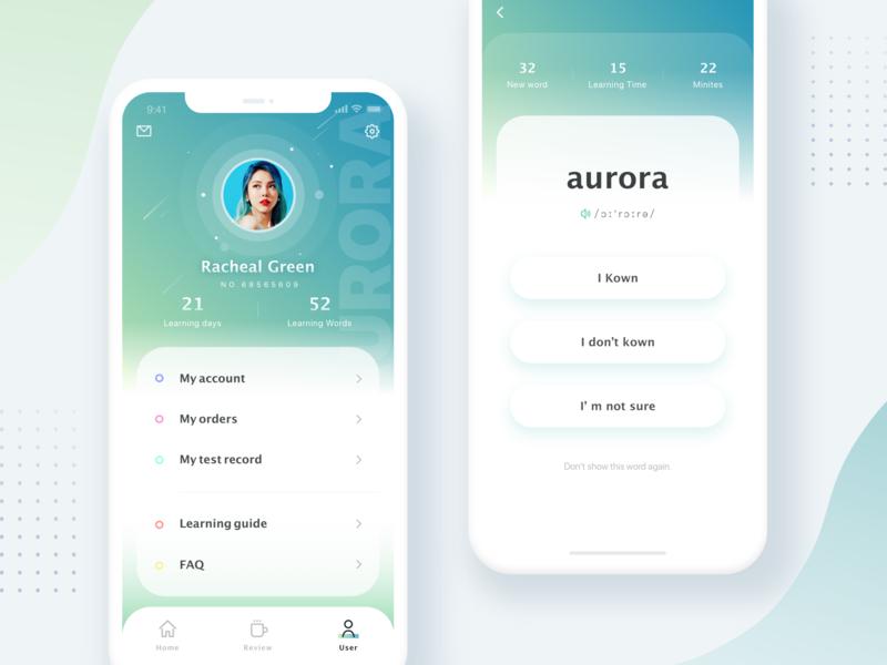 Reciting Words App Redesign ui app design