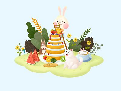 Gourmet iiiustrator photoshop sketch animal