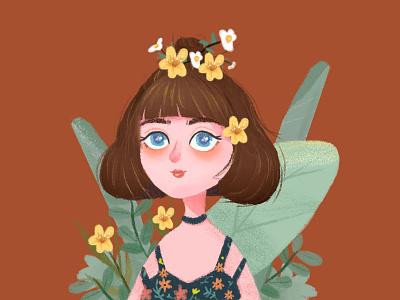 Girl avatar illustration photoshop sketch