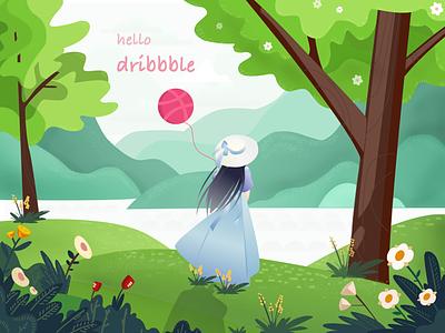hello dribbble dribbble hello sketch iiiustrator