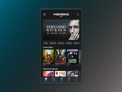 Videoland app redesign concept