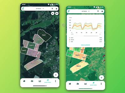 Agrovio - crop monitoring mobile app animation ux concept adobe xd xd uidesign adobe adobexd design ui