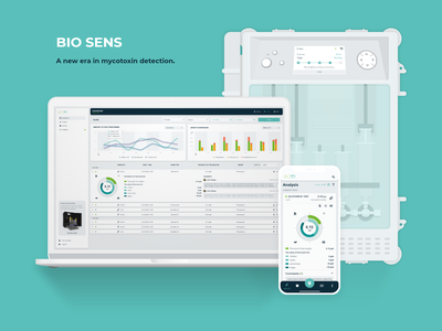 Bio sens - a new era in mycotoxin detection. mobile ux web design uidesign adobe adobexd design ui