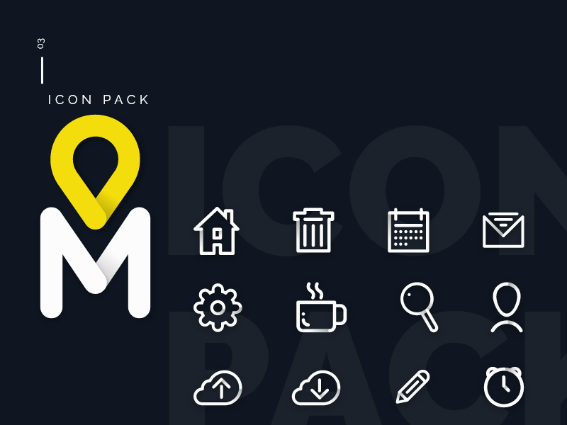 Icon Pack (update) xd ui metro icons icon design adobexd