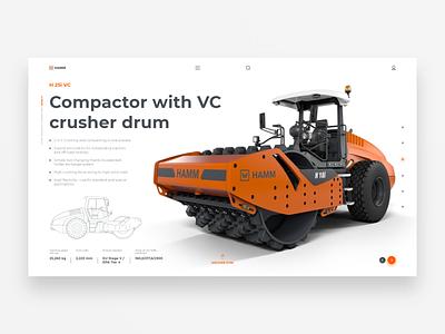 HAMM - H 25i VC compactor hamm concept web design adobe xd xd ux homepage adobe adobexd uidesign design ui