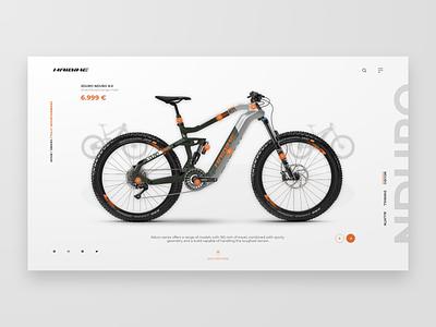 Haibike Xduro Nduro 8.0 ecommerce bicycle bike haibike concept web design adobe xd ux homepage xd adobe uidesign adobexd design ui