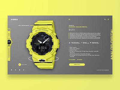 G-SHOCK watch g-schock branding concept web design adobe xd ux homepage xd adobe uidesign adobexd design ui