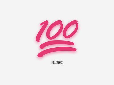 100 Followers dribbble followers