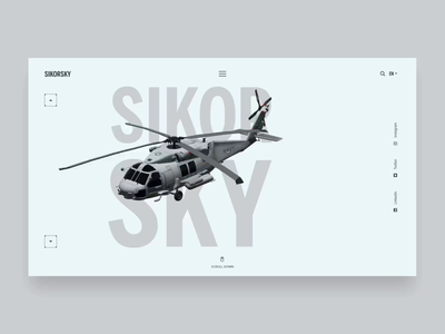 Sikorsky web design animation uidesign concept aftereffects adobexd homepage adobe design ui
