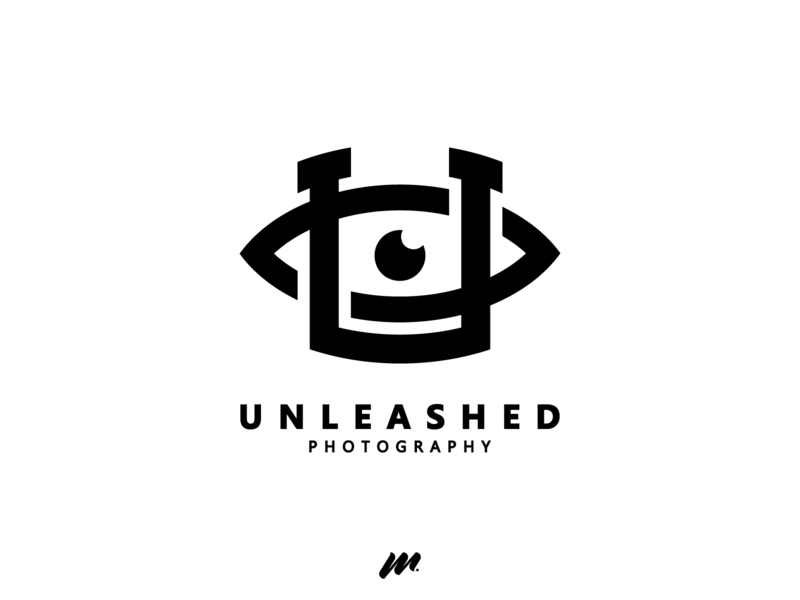 U + Eye ft. Unleashed - Lockup lockup business unique photography typography professional photoshop flat letter brand vector illustrator creative symbol mark logo identity design branding adobe