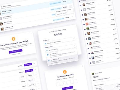 Reimburse with Spendesk 🤑 fintech saas dashboard spendesk application interface design ux ui
