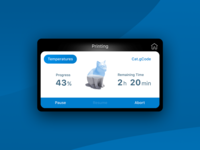 Ultimaker 3D Printer UI
