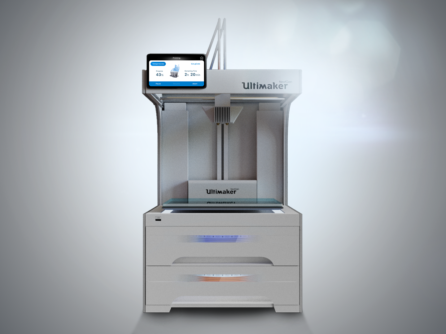 Ultimaker NextGen 3D Printer touchscreen ui 3dprinter nextgen ultimaker