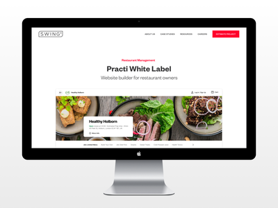 SwingDev – Website red white website web ui simple desktop minimal design clear clean