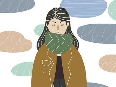 MELANCHOLY тоска арт девушка осень облака грусть
