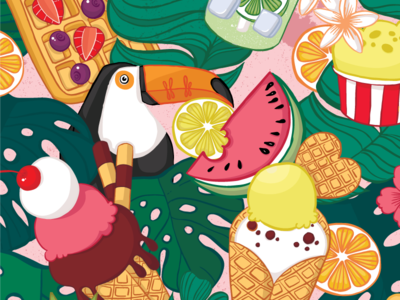 Tropical Pattern first shot illustration surface pattern design