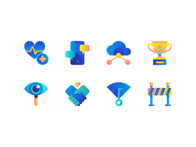 Civi iconography branding brand icons iconset settings app icon gradients gradient icon blue illustrator icon packs icon pack symbols symbol icon system iconos iconographic icon design iconography set icon