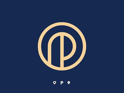 Páteo 125 - proposal alphabet logo letter logo p letter roundabout location pin pin logo p logo minimalist logo minimal line clean cowork coworker coworking gold blue logo branding