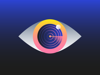 Privacy 👁️ searching scan vision safety blue smart hacker hack stealth spying confidential data protection gdpr private eyeball spy privacy eye illustration