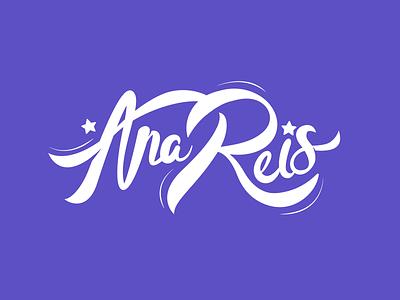 Ana Reis - Singer Logo typography sketch font logo logotype identity calligraphy hand lettering