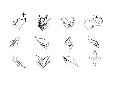 Logo Sketches mark brand character design branding it animal ideastorm forms mascot lineart sketchbook sketch logo