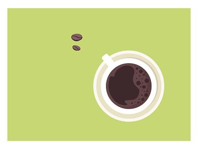 Morning coffee beans mug coffee illustration graphic design