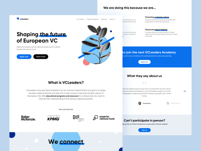 VC Leaders — Homepage web identity branding brand logo sdh ux minimal ui clean illustration design