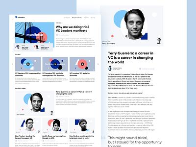 VC Leaders — Blog venture capital interview vc colors article blog ux ui vector web sdh minimal clean branding illustration