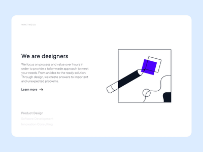 What We Do sdh smooth transition uxui uiux animated illustration typography vector ux minimal ui app clean design