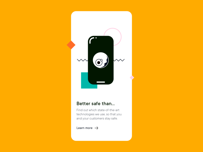 Better Safe Than... eye safe privacy sdh illustration typography vector ux minimal ui clean design