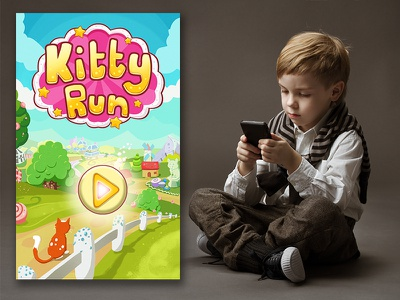 Kitty Run Game Design Prototype visual direction game digital art game design