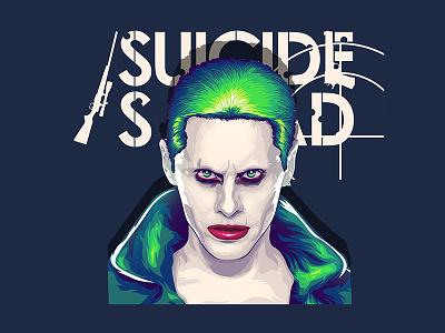 Suicide Squad Joker Illustration Vector T-Shirt Print logo print tshirt pop culture quick sketch digital art graphic design fan art dc comics vector art illustration