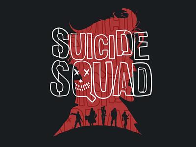 Suicide Squad Tshirt Print 2 illustration graphic design dead-shot harley quinn joker dc comics digital art logo design