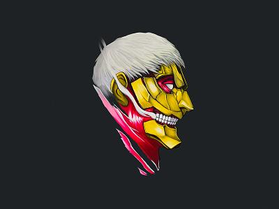 Armored Titan Fan Art fan art digital painting attack on titan shingeki no kyojin