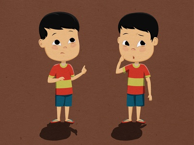 Twins photoshop doodle after effects animation digital art
