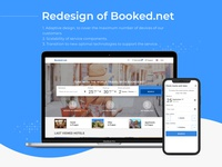 Redesign of Booked.net travel service