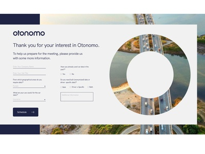 Landing page design for Otonomo company